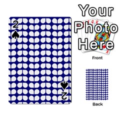 Blue And White Leaf Pattern Playing Cards 54 Designs