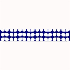 Blue And White Leaf Pattern Small Bar Mats