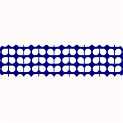 Blue And White Leaf Pattern Large Bar Mats