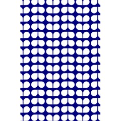 Blue And White Leaf Pattern 5 5  X 8 5  Notebooks