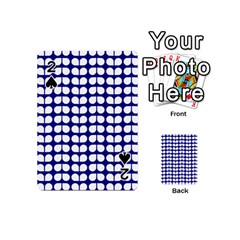 Blue And White Leaf Pattern Playing Cards 54 (Mini)