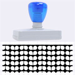 Blue And White Leaf Pattern Rubber Address Stamps (xl)