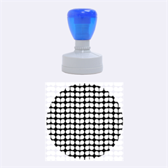 Blue And White Leaf Pattern Rubber Round Stamps (Medium)