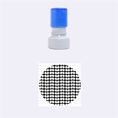 Blue And White Leaf Pattern Rubber Round Stamps (small)