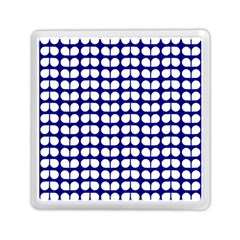 Blue And White Leaf Pattern Memory Card Reader (square)