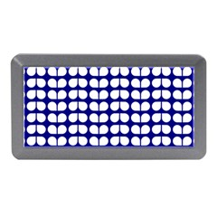 Blue And White Leaf Pattern Memory Card Reader (mini)