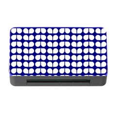 Blue And White Leaf Pattern Memory Card Reader With Cf