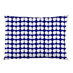 Blue And White Leaf Pattern Pillow Cases (two Sides)