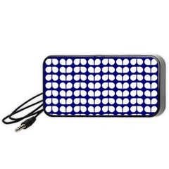 Blue And White Leaf Pattern Portable Speaker (Black)