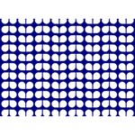 Blue And White Leaf Pattern Clover 3D Greeting Card (7x5)  Front