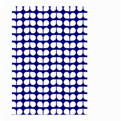Blue And White Leaf Pattern Small Garden Flag (Two Sides)