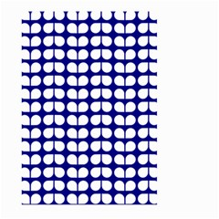 Blue And White Leaf Pattern Large Garden Flag (two Sides)