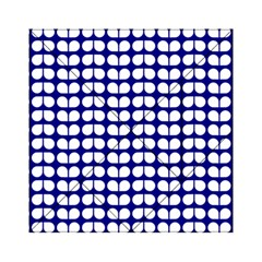 Blue And White Leaf Pattern Acrylic Tangram Puzzle (6  X 6 )