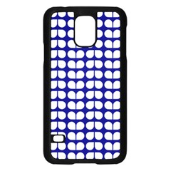 Blue And White Leaf Pattern Samsung Galaxy S5 Case (black)