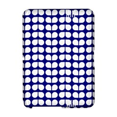 Blue And White Leaf Pattern Kindle Fire HD Hardshell Case