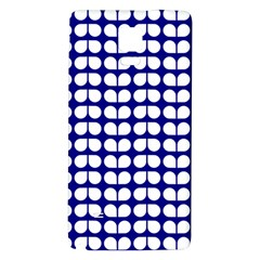 Blue And White Leaf Pattern Galaxy Note 4 Back Case