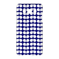 Blue And White Leaf Pattern Samsung Galaxy A5 Hardshell Case