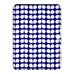 Blue And White Leaf Pattern Samsung Galaxy Tab 4 (10.1 ) Hardshell Case