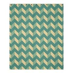 Modern Retro Chevron Patchwork Pattern Shower Curtain 60  x 72  (Medium)