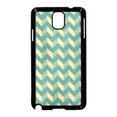 Modern Retro Chevron Patchwork Pattern Samsung Galaxy Note 3 Neo Hardshell Case (black)