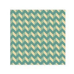 Modern Retro Chevron Patchwork Pattern Small Satin Scarf (Square)