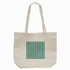 Teal And White Leaf Pattern Tote Bag (cream)