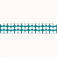 Teal And White Leaf Pattern Small Bar Mats