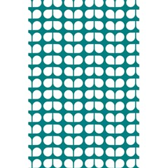 Teal And White Leaf Pattern 5.5  x 8.5  Notebooks