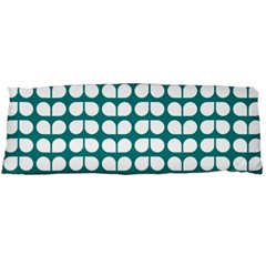 Teal And White Leaf Pattern Body Pillow Cases (Dakimakura)