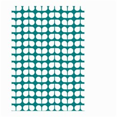 Teal And White Leaf Pattern Small Garden Flag (Two Sides)