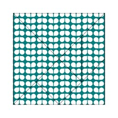Teal And White Leaf Pattern Acrylic Tangram Puzzle (6  x 6 )