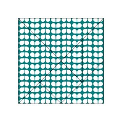 Teal And White Leaf Pattern Acrylic Tangram Puzzle (4  x 4 )