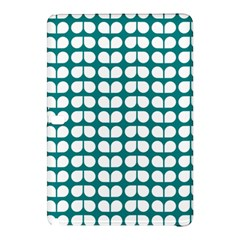 Teal And White Leaf Pattern Samsung Galaxy Tab Pro 12.2 Hardshell Case