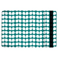 Teal And White Leaf Pattern iPad Air Flip
