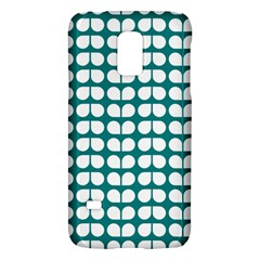 Teal And White Leaf Pattern Galaxy S5 Mini