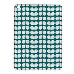 Teal And White Leaf Pattern iPad Air 2 Hardshell Cases