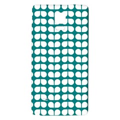 Teal And White Leaf Pattern Galaxy Note 4 Back Case