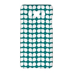 Teal And White Leaf Pattern Samsung Galaxy A5 Hardshell Case