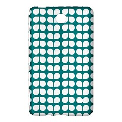 Teal And White Leaf Pattern Samsung Galaxy Tab 4 (8 ) Hardshell Case