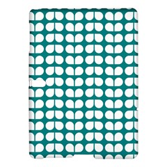 Teal And White Leaf Pattern Samsung Galaxy Tab S (10.5 ) Hardshell Case