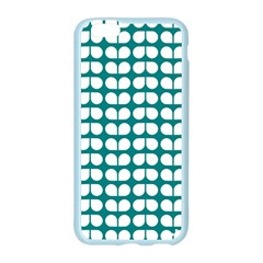 Teal And White Leaf Pattern Apple Seamless iPhone 6 Case (Color)