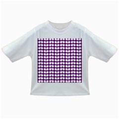 Purple And White Leaf Pattern Infant/Toddler T-Shirts