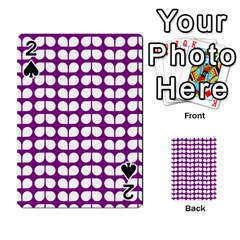 Purple And White Leaf Pattern Playing Cards 54 Designs