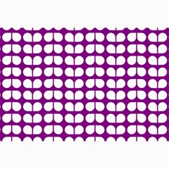 Purple And White Leaf Pattern Collage 12  X 18