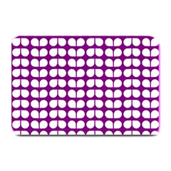 Purple And White Leaf Pattern Plate Mats