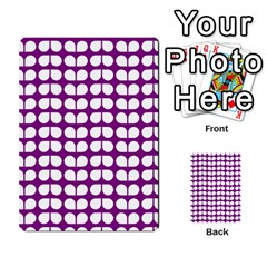Purple And White Leaf Pattern Multi Purpose Cards (rectangle)
