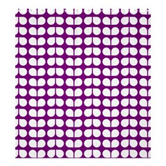 Purple And White Leaf Pattern Shower Curtain 66  X 72  (large)