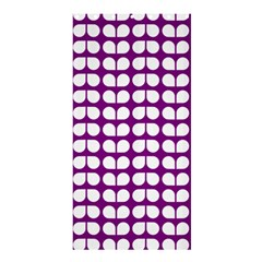 Purple And White Leaf Pattern Shower Curtain 36  X 72  (stall)