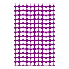 Purple And White Leaf Pattern Shower Curtain 48  X 72  (small)