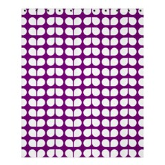 Purple And White Leaf Pattern Shower Curtain 60  x 72  (Medium)